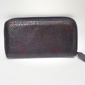 Macy's Genuine Dk. Brown Calf Leather Wallet